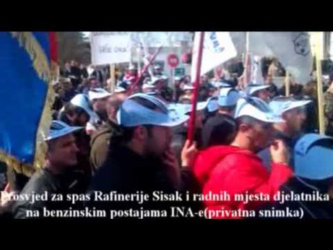 Prosvjed za spas Rafinerije Sisak