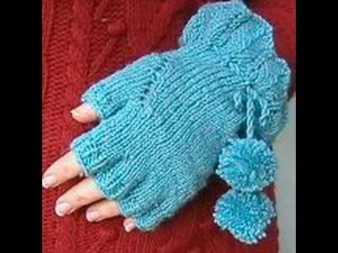 HOW TO KNIT FINGERLESS GLOVES - With individual fingers ...