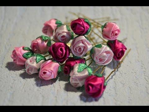 Розы канзаши фото мастер класс
