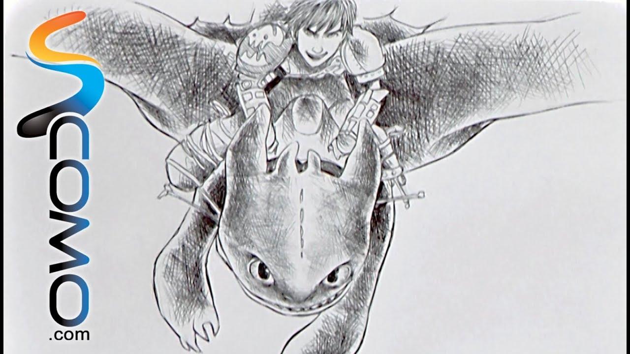 Dibujo de cómo entrenar a tu dragón - YouTube