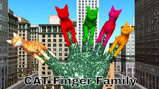 Cat Father Finger Family Song 3D Cartoon Animation Kids Children Nursery Rhymes