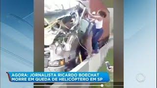 Mulher entra em caminhão para salvar motorista atingido por helicóptero de Boechat