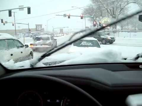 Driving around Missoula, Montana on January 18th, 2012. During a snow storm.