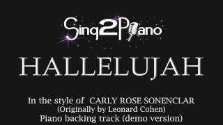 Hallelujah Piano Backing Track Carly Rose Sonenclar