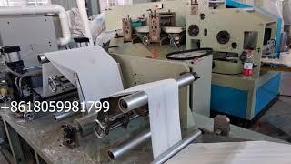 1/8 folding auto web 2 colors printing tissue paper serviette napkin machine