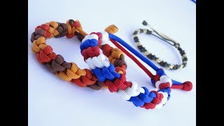 How to Make a 3 Color Candy Stripe Paracord Bracelet-Mad Max Style-Macrame Friendship