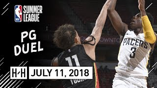 Trae Young vs Aaron Holiday PG Duel Highlights (2018.07.11) NBA Summer League - 16 Pts, 9 Reb