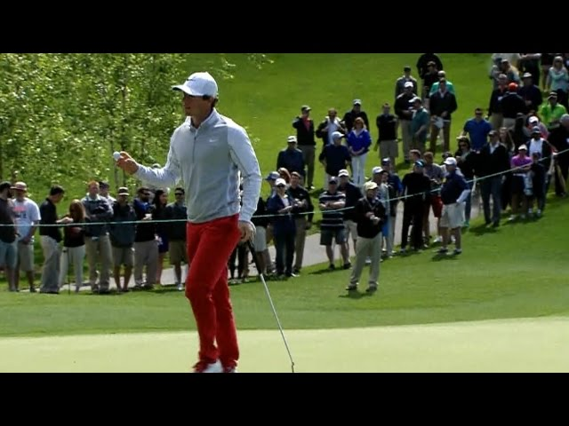 Rory McIlroy cards birdie on No. 2 at Wells Fargo