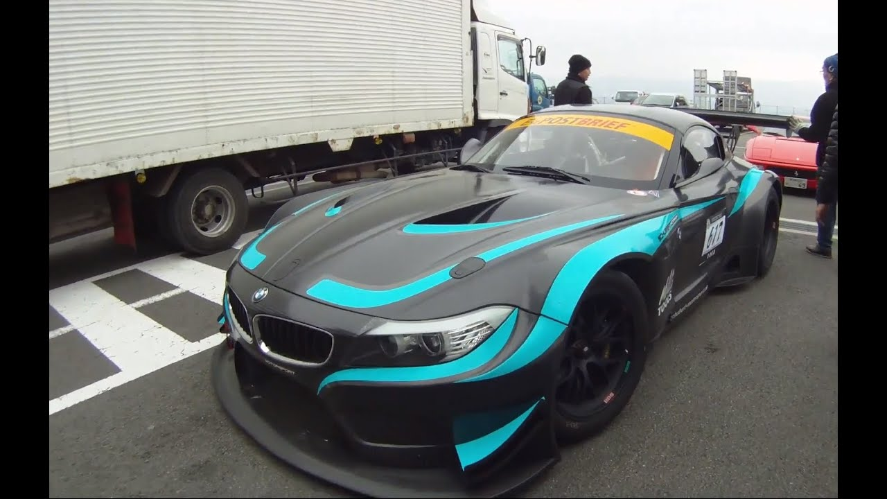 Bmw Z4 Gt3 E89 Test Track In Fuji International Speedway Youtube