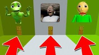 DO NOT PICK THE WRONG DOOR IN MINECRAFT! (Baldi's Basics, Dame Tu Cosita, Granny Horror)