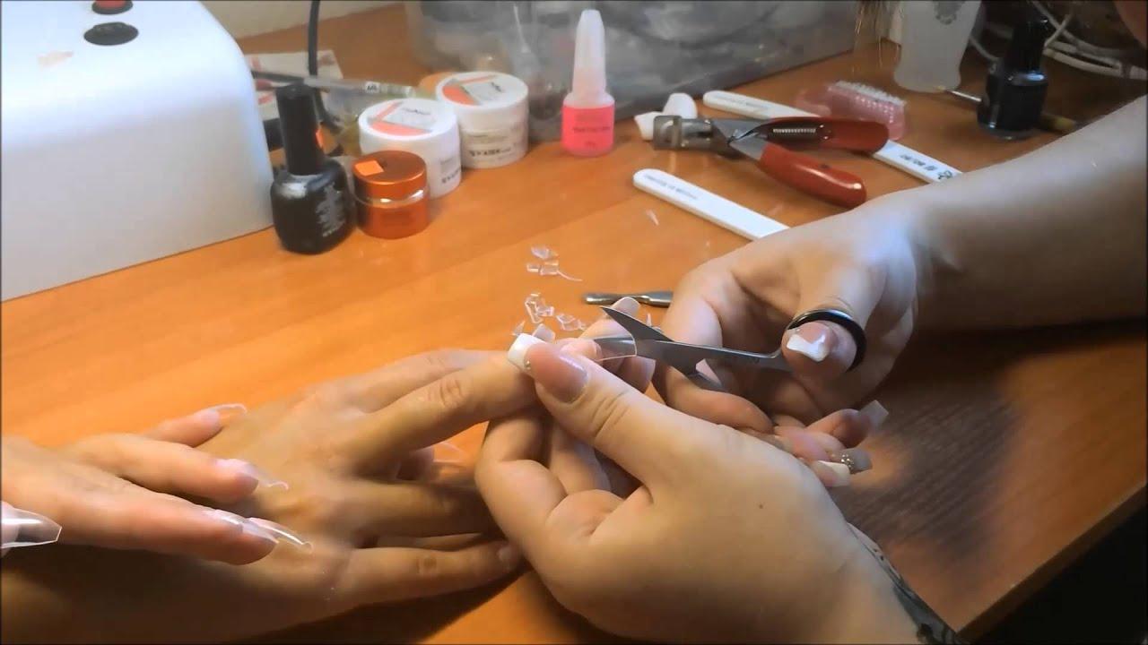 Как сделать коррекцию ногтей нарощенных на типсы в домашних условиях