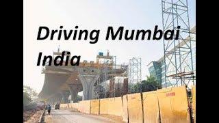 Driving Mumbai Airport to Taj Mahal Hotel HD (1080p)