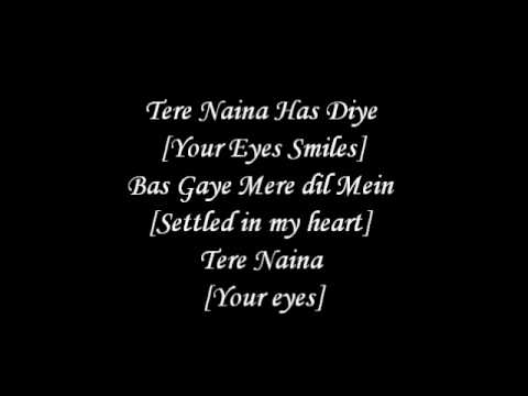 Tere Naina Lyrics With English Translation - Chandni Chowk To China *hq* video