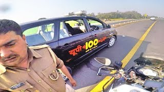 Why I m again and again stopped by police.UP POLICE STOPPED ME | Aagra lucknow expressway toll