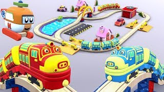 Choo Choo Train - Toy Train Cartoon - Car Helicopter Cartoon - Choo Choo Train Videos for KIDS