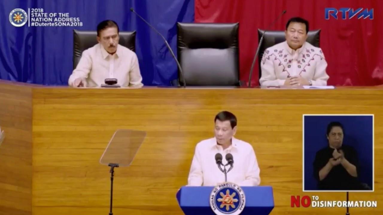 SONA 2018: Duterte rejects calls to suspend TRAIN law