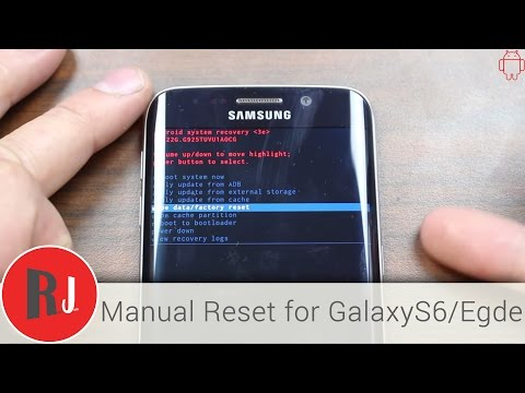 How to Manually Factory reset the Samsung Galaxy S6 Edge in stock Android recovery