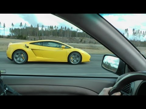 Volvo S40 420hp vs Lamborghini Gallardo LP520-4 E-gear