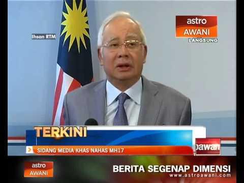 Sidang Media MH17 oleh Perdana Menteri di Amsterdam