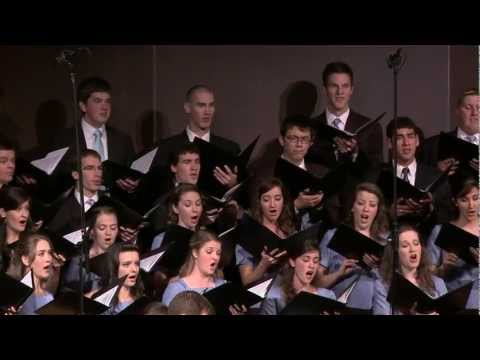 Craig Courtney conducts the BJU Chorale in a concert of his choral works,