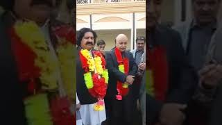Media Talks : Ali Wazir and Dr. Said Alam Mehsud at Judicial Complex, District Courts Swabi.
