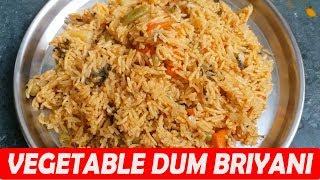 மிக சுலபமான முறையில் வெஜிடபிள் தம் பிரியாணி 15 நிமிடங்களில் | Veg Briyani In Tamil Kitchen