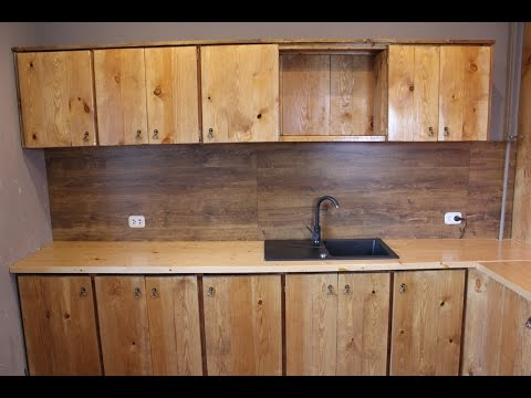 Кухонный гарнитур из мебельных щитов своими руками 77