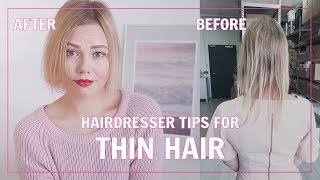 Hairdresser Tips for Thin & Fine Hair   Kia Lindroos