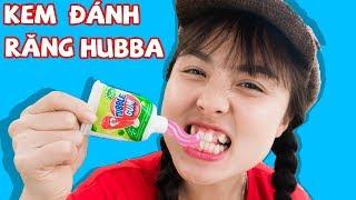 Lớp Học Nhí Nhí Nhố Nhố - Trò Chơi Ăn Kẹo Tuýp Kem Đánh Răng hubba bubba ❤ CHị Hằng & Thái Chuối