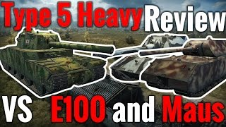 World of Tanks || Type 5 Heavy - Review vs E100 and Maus