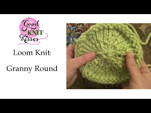How To Decrease Stitches On Knitting Loom : Loom Knit: Granny Round - YouTube