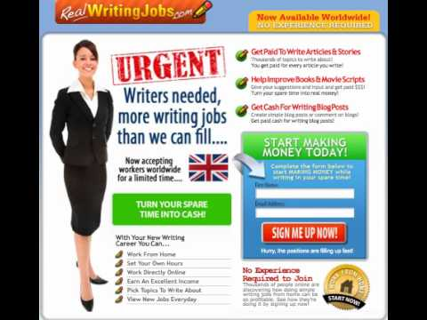Writing jobs uk