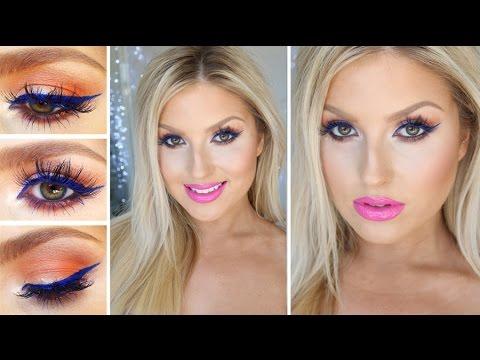 Chit Chat GRWM ♡ Blue Eyeliner, Orange & Hot Pink! Statement Makeup