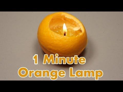 Portakal lambası yapımı