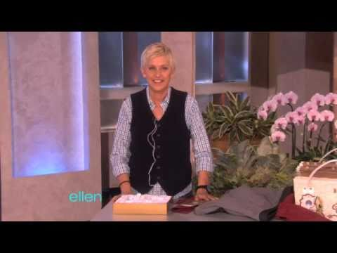 Ellen Tests a Vibrating Bra!