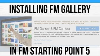 Installing FM Gallery in FMSP 5-FM Starting Point 16 Video Update-FMSP-FileMaker 16 News