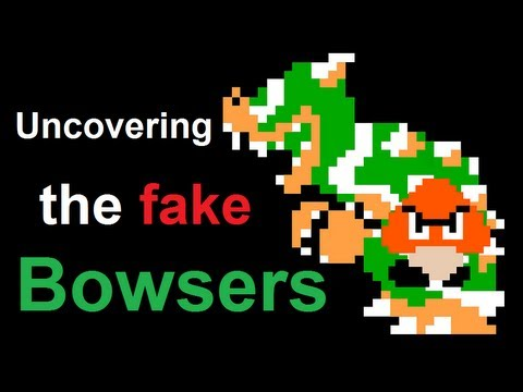 unmasking the fake bowsers in super mario bros bowser