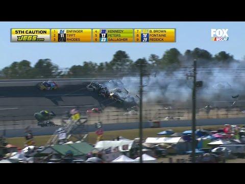 Big One @ Talladega (NASCAR Trucks Crash, 10-22-2016), 720p60