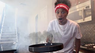 SETTING OUR HOUSE ON FIRE PRANK!!!