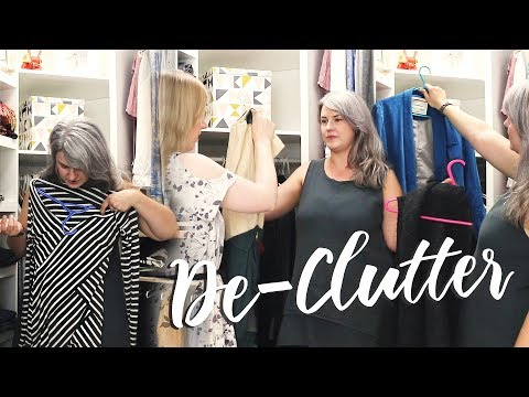 HUGE CLOSET DECLUTTER - Letting go of clothes that aren't worn & don't fit