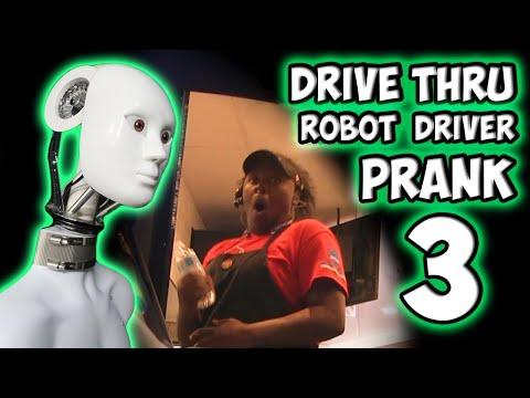 Drive Thru Robot Driver Prank 3