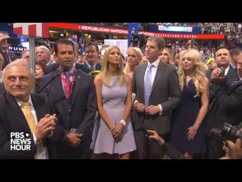 Donald Trump Jr. and New York delegates clinch nomination for Donald Trump