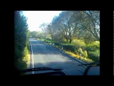 Truck driving on narrow roads England Kent