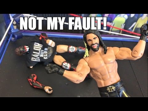 GTS WRESTLING: ROLLINS INJURES EVERYONE! WWE Mattel Figure Animation PPV Event!