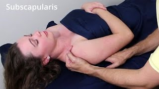 Massage Tutorial: Subscapularis (rotator cuff, deep tissue)