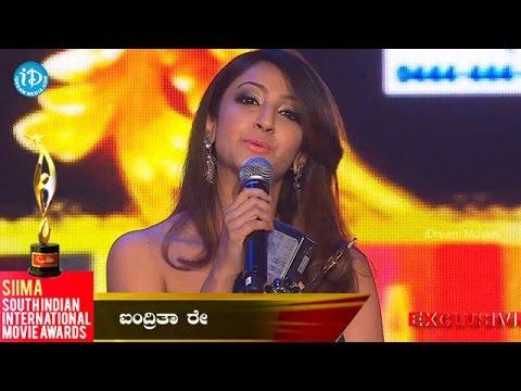 Best Actress in Kannada || Aindrita Ray@SIIMA 2014