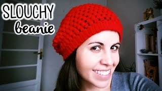 How to crochet a SLOUCHY BEANIE / BERET (super easy!) ♥ CROCHET LOVERS