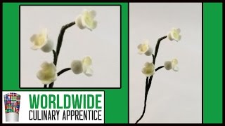 How to Make Sugar Paste Lilies of the Valley-Wedding Cake Decoration-Pastry School