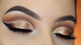 Gold Double Cut Crease Tutorial