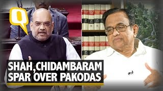 Whose 'Pakoda' Is It Anyway? Amit Shah, Chidambaram Spar Over Jobs | The Quint
